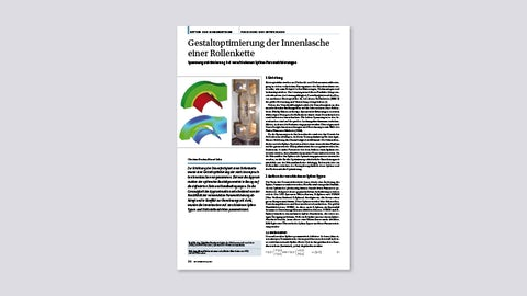 Gestaltoptimierung der Innenlasche einer Rollenkette (Antriebstechnik, 9/2009)