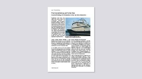 Fischverarbeitung auf hoher See (igus - Pressemeldung, 10/2007)