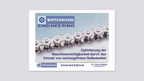 Optimierung der Maschinenverfügbarkeit durch den Einsatz von wartungsfreien Rollenketten (Vortrag von Dr.-Ing. G. Gödecke, 10/2007)