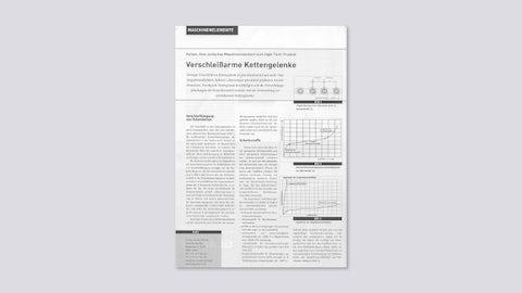 Verschleißarme Kettengelenke (Special Antriebstechnik, 1/2001)