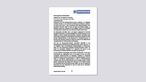 Wartungsfreie Rollenketten (Fallbeispiel aus der praktischen Anwendung, Dr.-Ing. G. Gödecke, Wippermann jr. GmbH, Hagen, VDI-Berichte Nr. 1758, 2003)