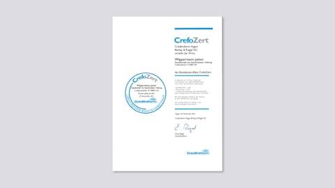 Financial Credibility Certificate CrefoZert 2011