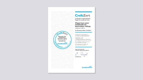 Financial Credibility Certificate CrefoZert 2012