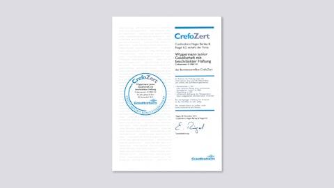Financial Credibility Certificate CrefoZert 2013