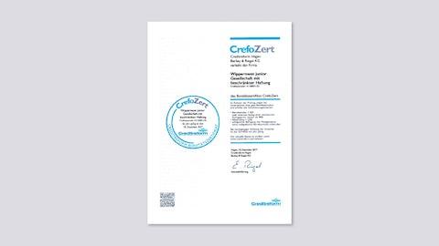 Financial Credibility Certificate CrefoZert 2017