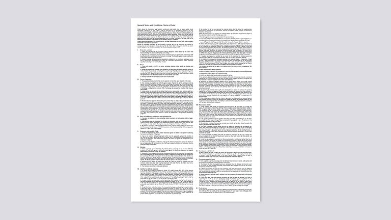 General Terms and Conditions (Terms of Sale)