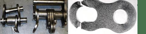 Gebrochene Laschen und/oder gebrochene Bolzen mit hoher Verformung