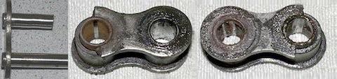 Gebrochene Laschen und/oder gebrochene Bolzen ohne Verformung