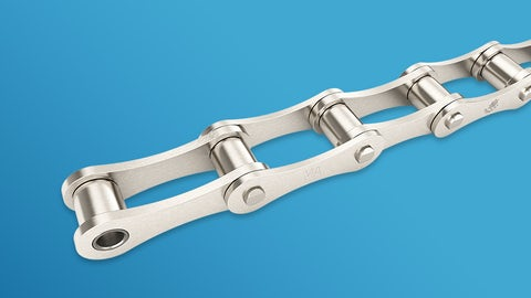 Double pitch roller chains according to DIN 8181 (ISO 1275)