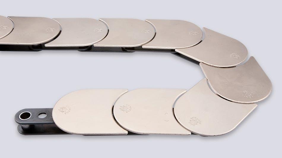 Top plate conveyor chain