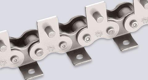Rollenkette rostfrei mit Winkeln bzw. Flachlaschen