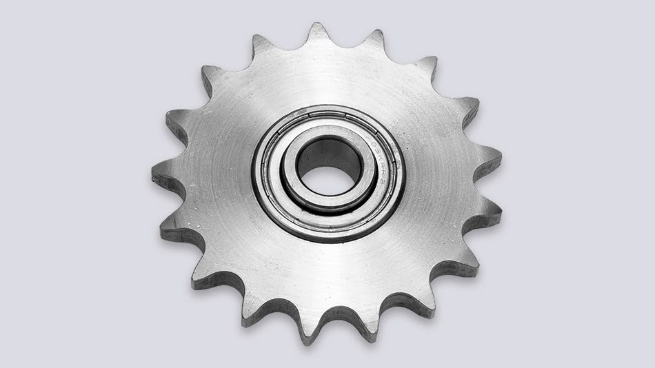 SPR sprockets with integrated ball bearing