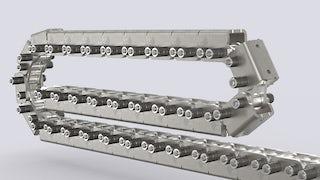 Patentiertes Schubkettensystem